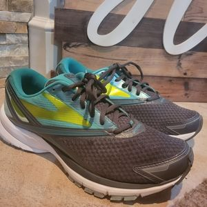 Brooks Womens Launch 4 Gray Blue Running Shoes Lac